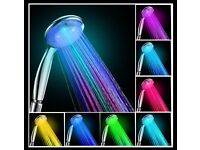 7 Colours Changing LED Shower Head Great for Kids they love it with the lights off NEW