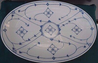 Servierplatte oval 36 x 24 cm indisch blau Winterling Schwarzenbach Platte