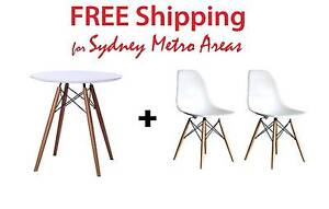 COMBO SALE - Eames Dining Table 70cm & Eames DSW Chair x 2 Zetland Inner Sydney Preview