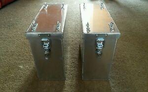 Aluminium panniers pair  top box