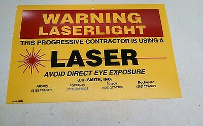 Laser Level Warning Sign Laserlight In Use.