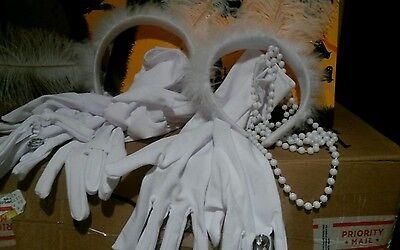 Kids halloween costumes accessories flapper set NEW
