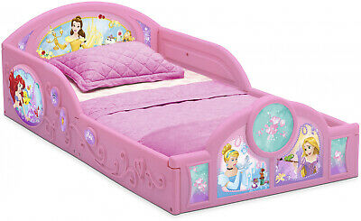 Toddler Bed For Girls Pink Frame Princess Floor Kids Plastic