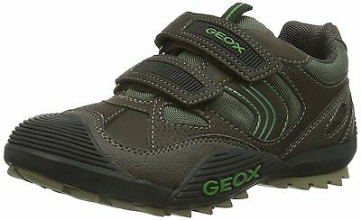 Geox Kinder Jr Wild Kaffee/Forest Grün Kinder Sneaker ()