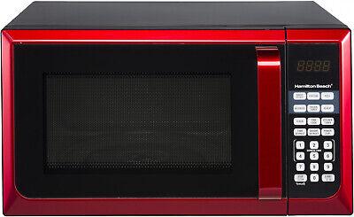 New Hamilton Beach 900W 0.9 Cu. Ft. Counter-Top Red Microwav