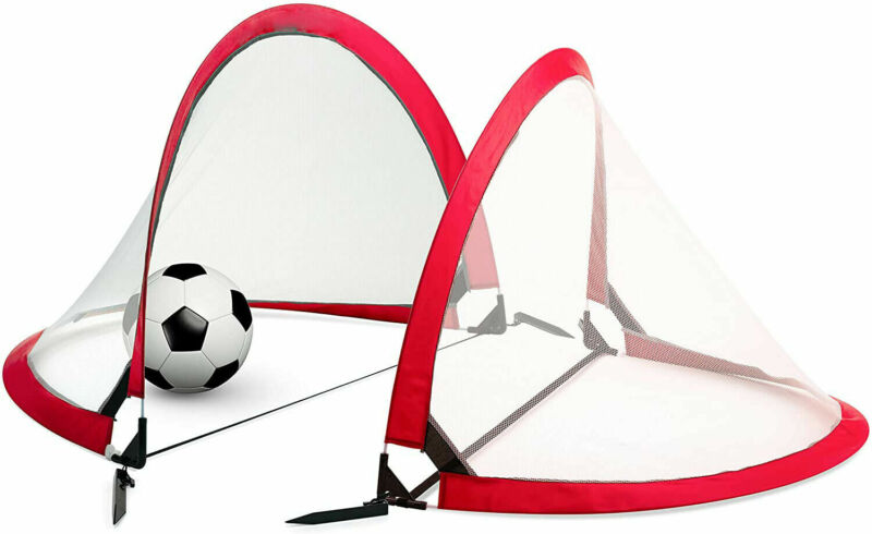 US Pop-Up Soccer Goal - Two Portable Soccer Net with Carry Bag - Sizes 2.7' HOT