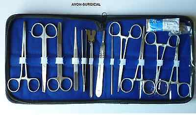 14 Pc Military Field Minor Surgery Surgical Veterinary Dental Instrument Kit