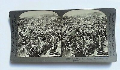 View WW1 Seaching the Ruin in France After Bombing Stereo Photo