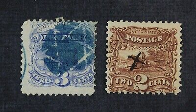CKStamps: US Stamps Collection Scott#113 114 Pictorial Used CV$102.50