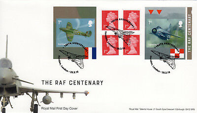 2018 RAF CENTENARY BOOKLET FDC FIRST DAY COVER - Hendon Handstamp