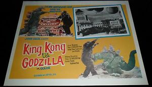 1962-King-Kong-vs-Godzilla-ORIGINAL-LOBBY-CARD-Ishiro-Honda-JAPANESE-SCI-FI-A