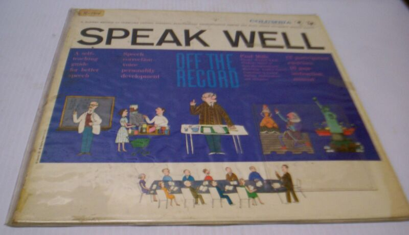 "Columbia ""SPEAK WELL OFF THE RECORD"" LP Record"