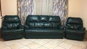 High quality real leather recliner lounge suite nice and clean Mirrabooka Stirling Area Preview