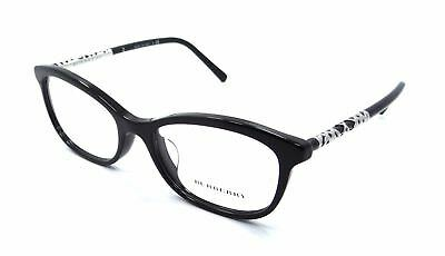 NEW AUTHENTIC BURBERRY B 2231 3001 Black Women's Butterfly Eyeglasses 52mm ITALY