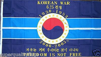 KOREAN WAR MEMORIAL MILITARY FLAG NEW 3X5 ft