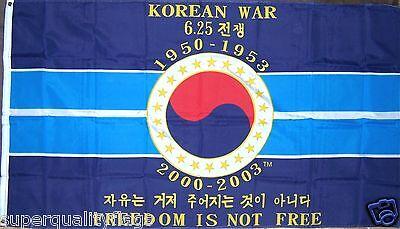 KOREAN WAR MEMORIAL MILITARY FLAG NEW 3X5ft better quality usa seller