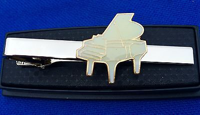 PIANO TIE CLIP BABY GRAND PIANO BAND YAMAHA ORGAN TIE CLASP PIN NECKTIE for sale  Shipping to South Africa