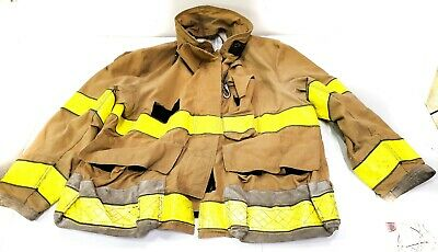 50x32 Browngold Globe Firefighter Jacket Turn Out Gear Gx-7 No Liner Jnl-14