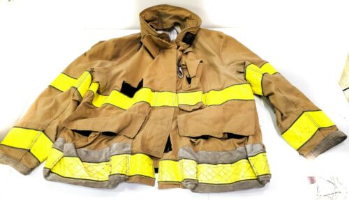 50x32 Brown/Gold Globe Firefighter Jacket Turn Out Gear GX-7 No Liner JNL-14