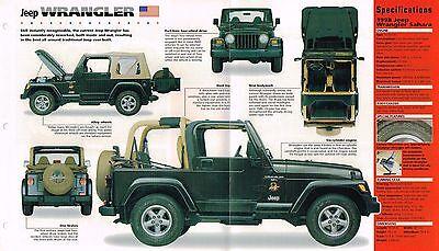 JEEP WRANGLER Sahara SPEC SHEET/Brochure:1998,1997,...