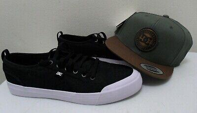 DC Shoes Men's Evan Smith Skateboarding Shoe Sneaker-Black+ Cap -Size 13-New   Dc Shoes Athletic Cap