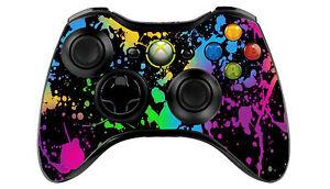 Xbox 360 Paint spalsh Controller Skin/Sticker