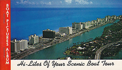 Hi-Lites of Your Spectacular Boat Tour Miami Vintage Album 10 Postcard Images