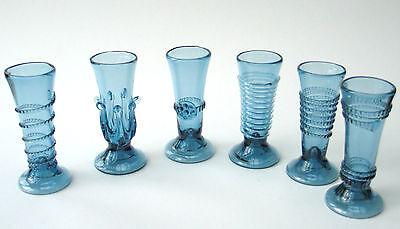 Waldglas  Herrliche Handarbeit Glas in blau neu Top 25 mL kl. Schnaps Gläser