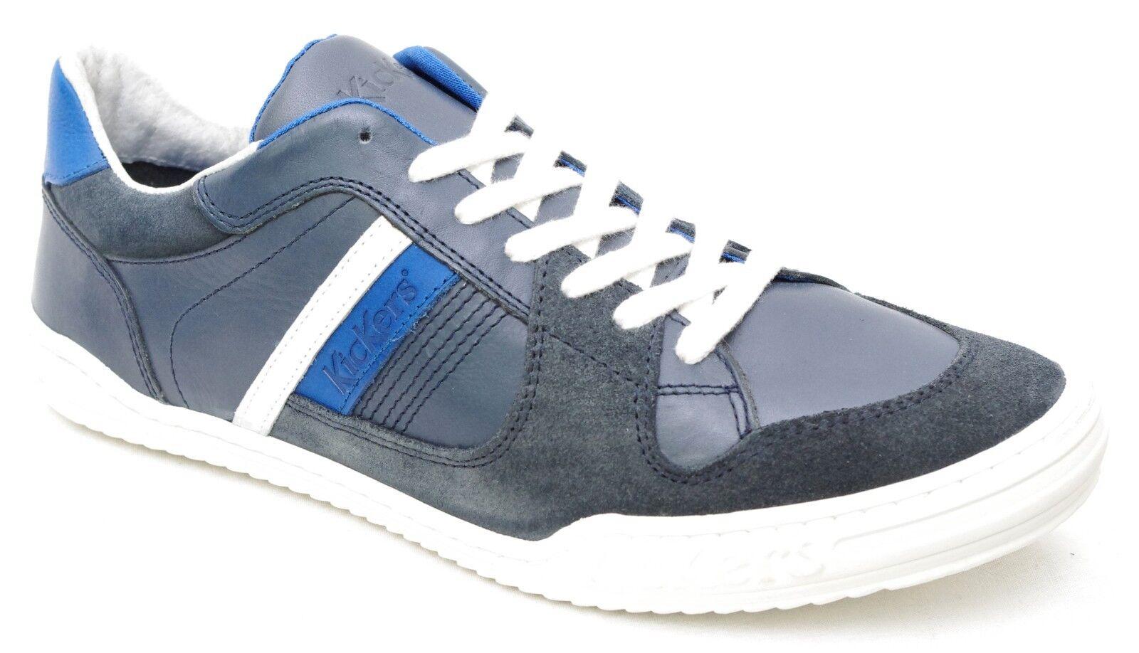 KICKERS TRIOMPHE baskets homme cuir bleu marine 412866 Taille 40