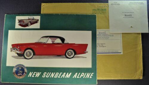1959-1960 Sunbeam Alpine Roadster Sales Brochure Folder +Envelope Original