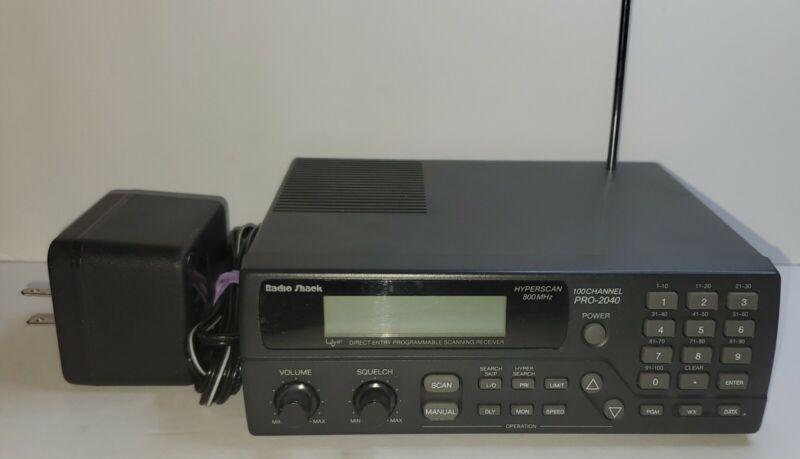 RadioShack PRO-2040 (100-Channel) Desktop 800MHz Police-Fire-EMS Scanner~TESTED!