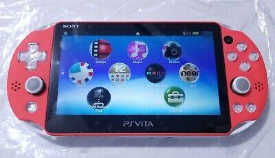 Sony PlayStation Vita PS Vita Neon Orange & White PCH-2000 Slim Console 3.65