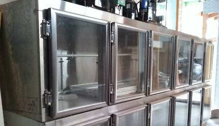 STAINLESS STEEL 6 DOOR UNDER BAR COMMERCIAL FRIDGE Burwood East Whitehorse Area Preview