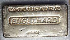 Silver 100 oz Engelhard Silver Bar - Various Pour Styles