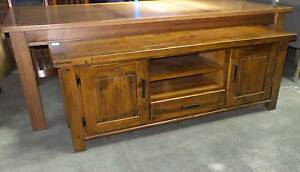 SETTLER SOLID PINE HONEY FINISH TV UNIT 1800 W X 480 D X 660 H Thebarton West Torrens Area Preview