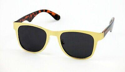Metal Horn Rim Classic Retro Sunglasses Vintage Style Gold/Tortoise Dark (Tortoise Gold)