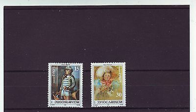 YUGOSLAVIA - SG2749-2750 MNH 1991 23rd JOY OF EUROPE MEETING - CHILDREN