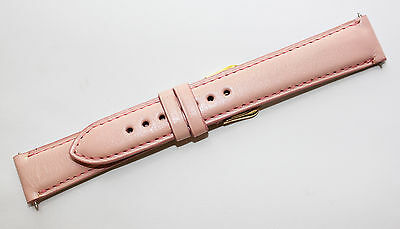 (18mm Soft Pink Monte Carlo Calfskin Leather Watch Strap Band MADE IN THE USA)