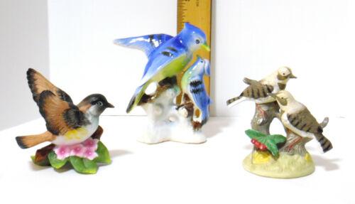 LOT OF 3 CERAMIC PORCELAIN BIRD FIGURINES