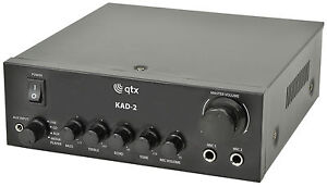 QTX KAD-2 Digital Stereo Mixer Amplifier Background Music Speaker PA System DJ