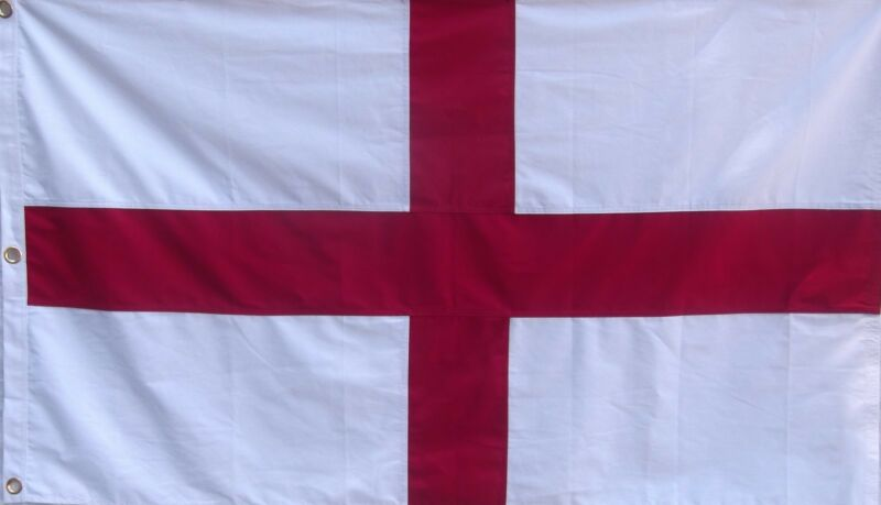 HEAVy COTTON 3 FEET X 5 FEET SAINT GEORGE FLAG - ST GEORGE - RED AND WHITE
