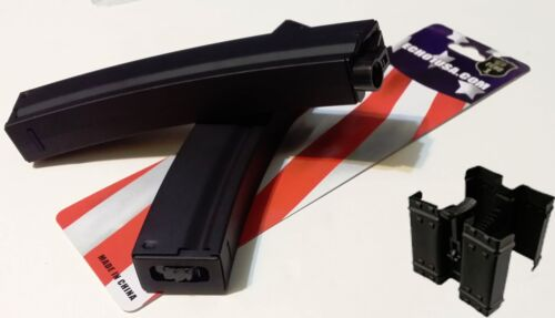 Echo1 AIRSOFT SG (Two) 200rd high cap airsoft mag with (one) mag clamp combo