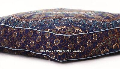 Elephant Mandala Floor Pillow Cover Indian Outdoor Sofa Dog