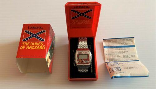 THE DUKES OF HAZARD LCD Unisonic Quartz Watch, 1981, Vintage, New Old Stock NIB