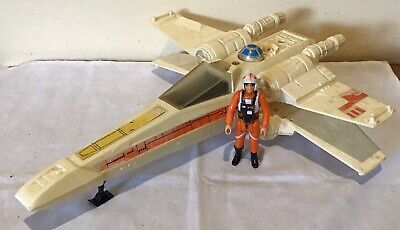 Vintage KENNER X-Wing with pilot Luke 1977