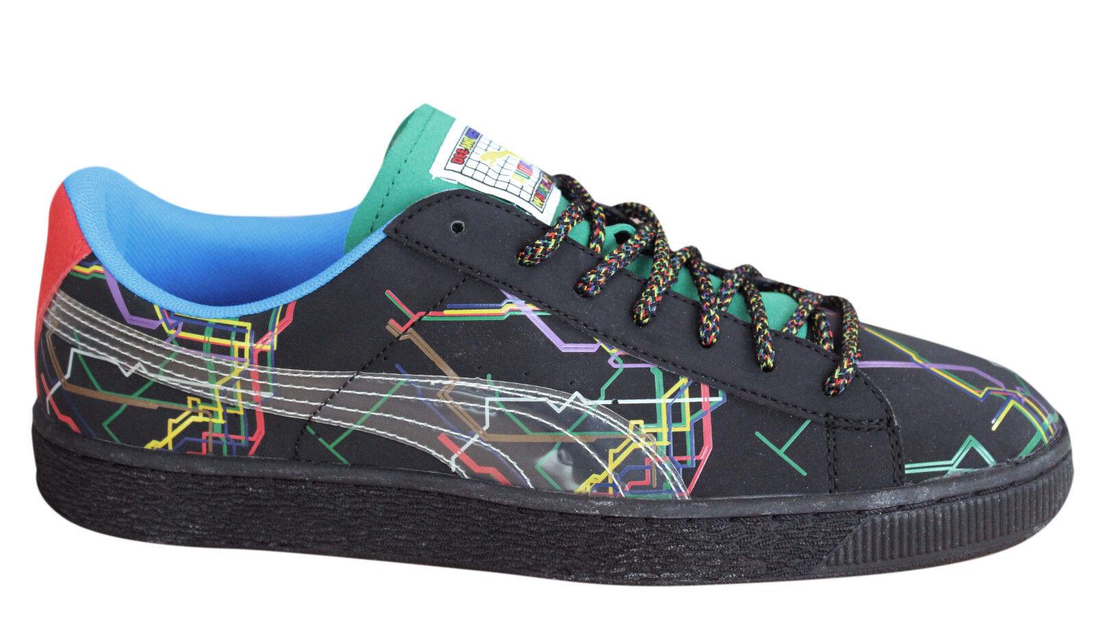 best website 47647 5f428 Details about Puma Basket x Dee & Ricky Mens Trainers Lace Up Shoes Black  361498 01 B44D