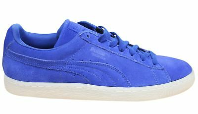Puma Suede Classic Coloured Blue Leather Lace Up Mens Trainers 360850 06 P