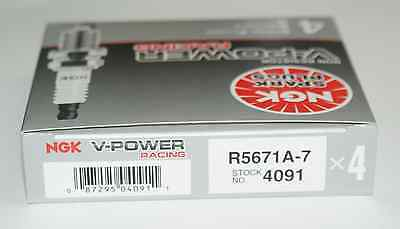 (8) NGK 4091 Racing Spark Plugs R5671A-7 V Power Nitrous Turbo Supercharged Ngk Race Spark Plugs