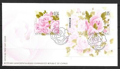2011 Cyprus first day cover dated 23 March 2011 featuring Roses
