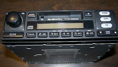 2001 SUBARU AM/FM/CASSETTE RADIO P119 FOR PARTS OR REPAIR ONLY NOT WORKING!